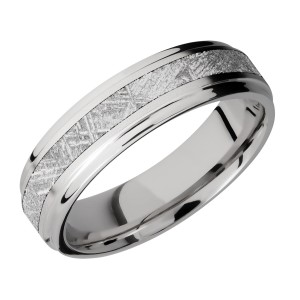 Lashbrook CC6FGE13/METEORITE Cobalt Chrome Wedding Ring or Band