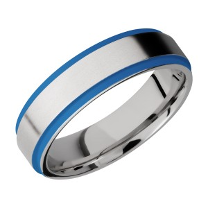 Lashbrook CC6FGE21EDGE/A/CERAKOTE Cobalt Chrome Wedding Ring or Band