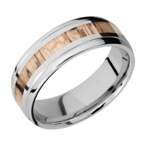 Lashbrook CC7B13(S)/HARDWOOD Cobalt Chrome Wedding Ring or Band