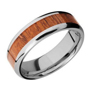 Lashbrook CC7B14(NS)/HARDWOOD Cobalt Chrome Wedding Ring or Band