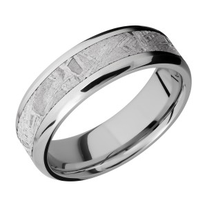 Lashbrook CC7B14(NS)/METEORITE Cobalt Chrome Wedding Ring or Band