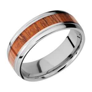 Lashbrook CC7B14(S)/HARDWOOD Cobalt Chrome Wedding Ring or Band