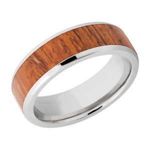 Lashbrook CC7B15(NS)/HARDWOOD Cobalt Chrome Wedding Ring or Band