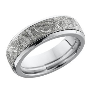 Lashbrook CC7B15(NS)/METEORITE Cobalt Chrome Wedding Ring or Band