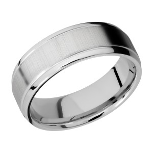 Lashbrook CC7B(S) Cobalt Chrome Wedding Ring or Band
