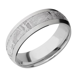 Lashbrook CC7D14/METEORITE Cobalt Chrome Wedding Ring or Band