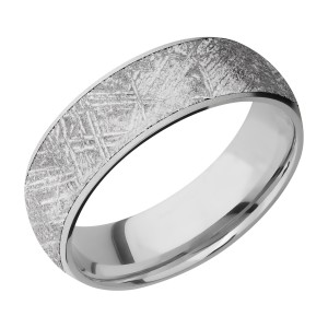 Lashbrook CC7D16/METEORITE Cobalt Chrome Wedding Ring or Band