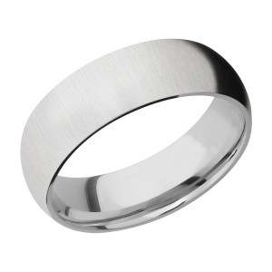 Lashbrook CC7D Cobalt Chrome Wedding Ring or Band