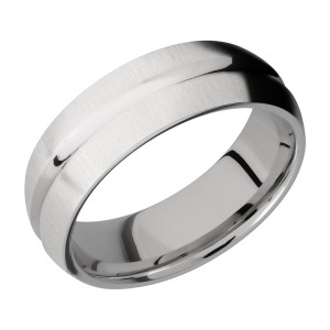 Lashbrook CC7DC Cobalt Chrome Wedding Ring or Band
