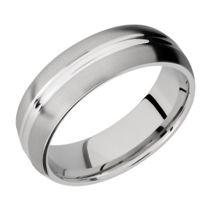 Lashbrook CC7DD Cobalt Chrome Wedding Ring or Band