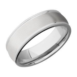 Lashbrook CC7DMIL Cobalt Chrome Wedding Ring or Band