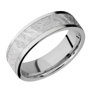 Lashbrook CC7F15/METEORITE Cobalt Chrome Wedding Ring or Band