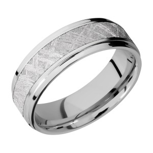 Lashbrook CC7FGE14/METEORITE Cobalt Chrome Wedding Ring or Band