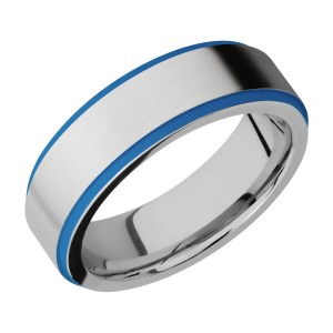 Lashbrook CC7FGE21EDGE/A/CERAKOTE Cobalt Chrome Wedding Ring or Band