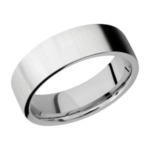 Lashbrook CC7FR Cobalt Chrome Wedding Ring or Band