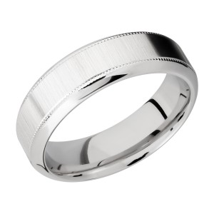 Lashbrook CC7HB2UMIL Cobalt Chrome Wedding Ring or Band