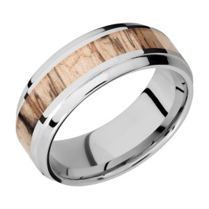 Lashbrook CC8B14(S)/HARDWOOD Cobalt Chrome Wedding Ring or Band