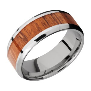 Lashbrook CC8B15(NS)/HARDWOOD Cobalt Chrome Wedding Ring or Band