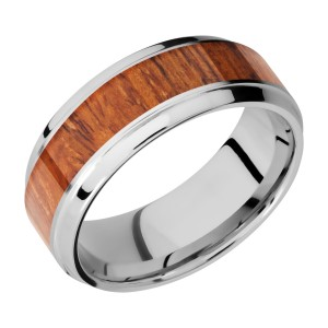 Lashbrook CC8B15(S)/HARDWOOD Cobalt Chrome Wedding Ring or Band
