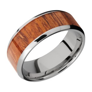 Lashbrook CC8B16(NS)/HARDWOOD Cobalt Chrome Wedding Ring or Band