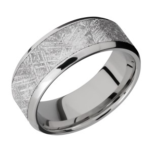 Lashbrook CC8B16(NS)/METEORITE Cobalt Chrome Wedding Ring or Band