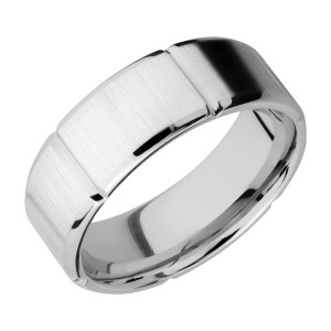 Lashbrook CC8B6SEG Cobalt Chrome Wedding Ring or Band