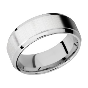 Lashbrook CC8B(S) Cobalt Chrome Wedding Ring or Band