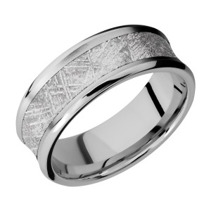 Lashbrook CC8CB15/METEORITE Cobalt Chrome Wedding Ring or Band