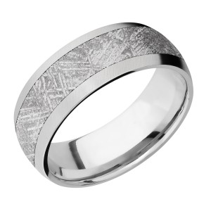 Lashbrook CC8D15/Meteorite Cobalt Chrome Wedding Ring or Band