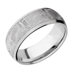Lashbrook CC8D16/METEORITE Cobalt Chrome Wedding Ring or Band