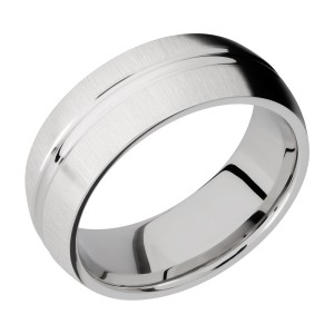 Lashbrook CC8DD Cobalt Chrome Wedding Ring or Band