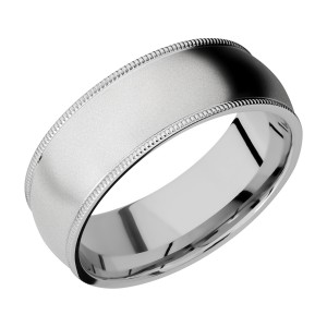 Lashbrook CC8DMIL Cobalt Chrome Wedding Ring or Band
