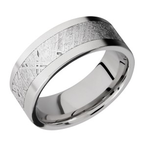 Lashbrook CC8F15/METEORITE Cobalt Chrome Wedding Ring or Band
