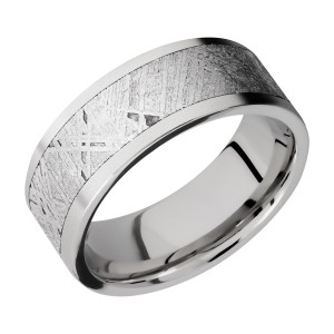 Lashbrook CC8F16/METEORITE Cobalt Chrome Wedding Ring or Band