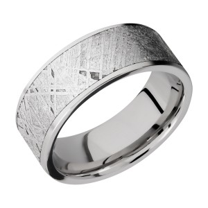 Lashbrook CC8F17/METEORITE Cobalt Chrome Wedding Ring or Band