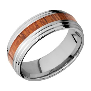Lashbrook CC8F2S13/HARDWOOD Cobalt Chrome Wedding Ring or Band