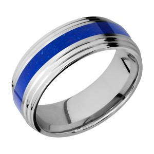 Lashbrook CC8F2S13/MOSAIC Cobalt Chrome Wedding Ring or Band