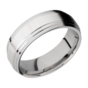 Lashbrook CC8F2S Cobalt Chrome Wedding Ring or Band