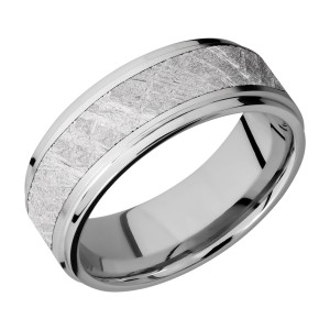 Lashbrook CC8FGE15/METEORITE Cobalt Chrome Wedding Ring or Band