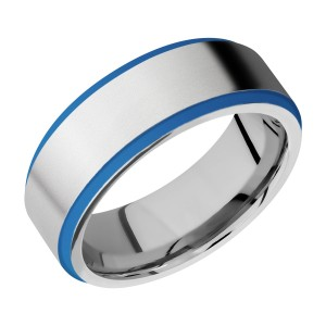 Lashbrook CC8FGE21EDGE/A/CERAKOTE Cobalt Chrome Wedding Ring or Band