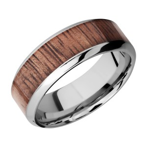 Lashbrook CC8HB15/HARDWOOD Cobalt Chrome Wedding Ring or Band