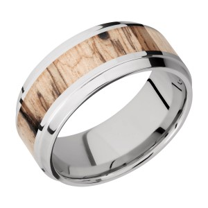 Lashbrook CC9B15(S)/HARDWOOD Cobalt Chrome Wedding Ring or Band