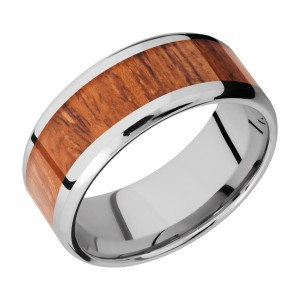 Lashbrook CC9B16(NS)/HARDWOOD Cobalt Chrome Wedding Ring or Band