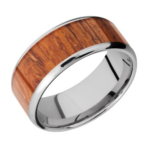 Lashbrook CC9B17(NS)/HARDWOOD Cobalt Chrome Wedding Ring or Band