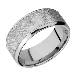 Lashbrook CC9B17(NS)/METEORITE Cobalt Chrome Wedding Ring or Band