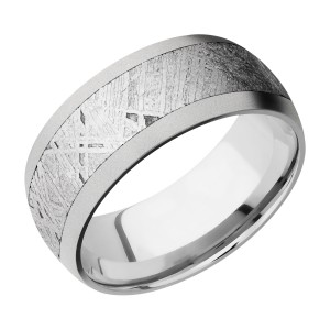 Lashbrook CC9D16/METEORITE Cobalt Chrome Wedding Ring or Band