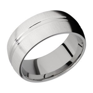 Lashbrook CC9DD Cobalt Chrome Wedding Ring or Band