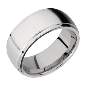 Lashbrook CC9DGE Cobalt Chrome Wedding Ring or Band