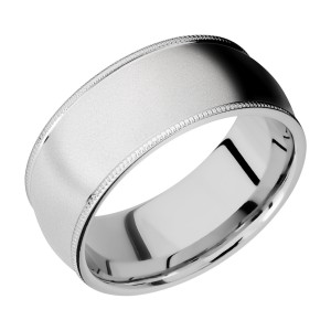 Lashbrook CC9DMIL Cobalt Chrome Wedding Ring or Band