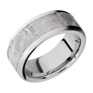 Lashbrook CC9F16/METEORITE Cobalt Chrome Wedding Ring or Band